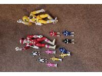 Power Rangers plastic figurines collection