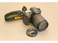 NIKON D7100 24Megapixel DSLR camera plus 2 zoom lenses with camera bag like new