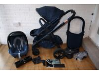 iCandy Peach DC Midnight Edition pram pushchair travel system 3 in 1 **can post**