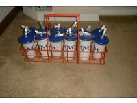 Water bottle carrier & bottles (New)