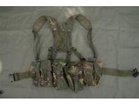 Set of DPM Webbing (x2 Ammo Pouches, x2 Utility Pouches, Belt and Yoke)