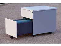 Stylish two draw under desk Mobile Pedestal Filing Cabinet