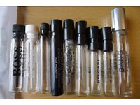 Selection of perfume testers/samples