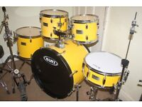 """Mapex V Series Yellow 5 Piece Drum Kit (22"""" Bass) - DRUMS ONLY"""