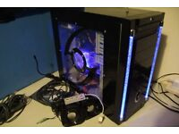 Custom Desktop Gaming PC AMD Quad Core 4.20GHz, GTX650 Ti, 8GB RAM, 1TB w/ Speakers, USB Hub, Driver