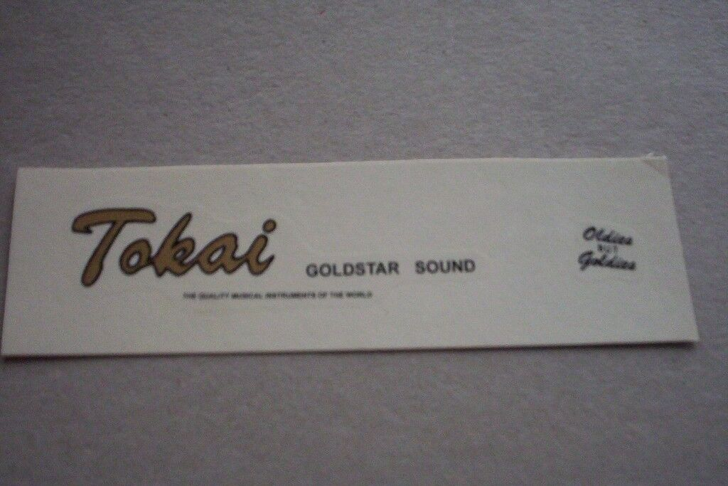 """Tokai 80s """" goldstar sound"""" logo/decal water slide"""