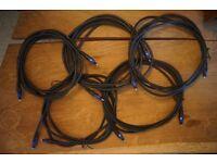 5 x 3m Planet Waves ADAT cables
