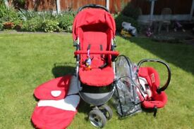 3 in 1 - Pushchair, Pram and baby Car Seat