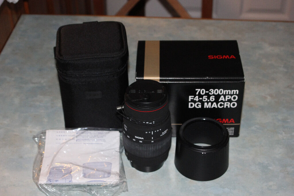 Sigma 70 - 300mm F4 -5.6 APO DG Macro lens for Canon EOS EF camera