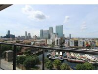 BRAND NEW! Stunning 1 bed flat in HORIZONS TOWER - CANARY WHARF. Furnished.Concierge.Gym.Balcony.