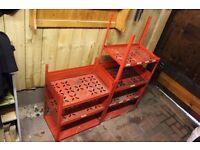 Steel Racking Red Heavy Duty 2 Pieces Tool Shelf