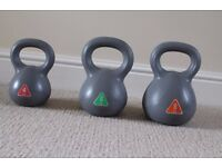Kettlebell set of 3 weights - 4kg, 6kg, 8kg