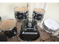 Ludwig Accent Black 5 Piece Drum Kit (20 in Bass) - DRUMS ONLY