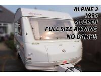 Caravan Alpine 2 Super Sprite 2 Berth No Damp With Full Awning