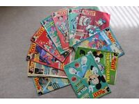 Le Journal de Mickey, 12 Magazines, Journals, collectible comics