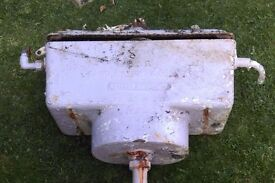 Reclaimed Victorian high level cast iron cistern