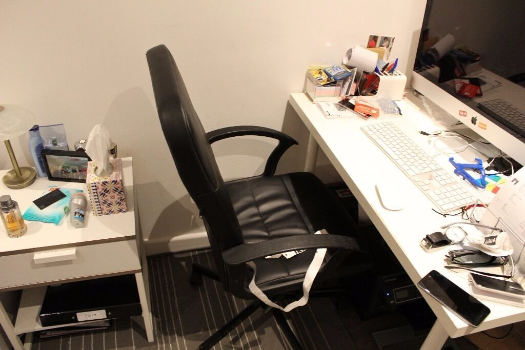 Desk and bedside table - excellent condition