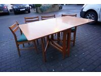 GPlan Style Midcentury Lovely Teak Gateleg Table & Chairs FREE DELIVERY CENTRAL EDINBURGH