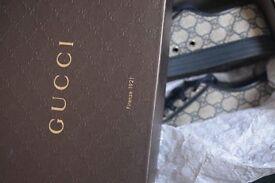 100% Authentic Blue Gucci Monogram Trainers Rrp £325