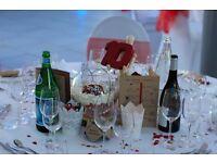 Wedding decoration - 12 Bowl vases