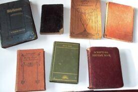 12 Old Religious Books 1988/1898/1904/1922/1924/1930's/1934/1937/1940,s/1942