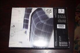 Blue checked Single Duvet Cover set: £20