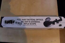 U-ZM Rifle Scope 6-24x50mm Reticle Illuminated