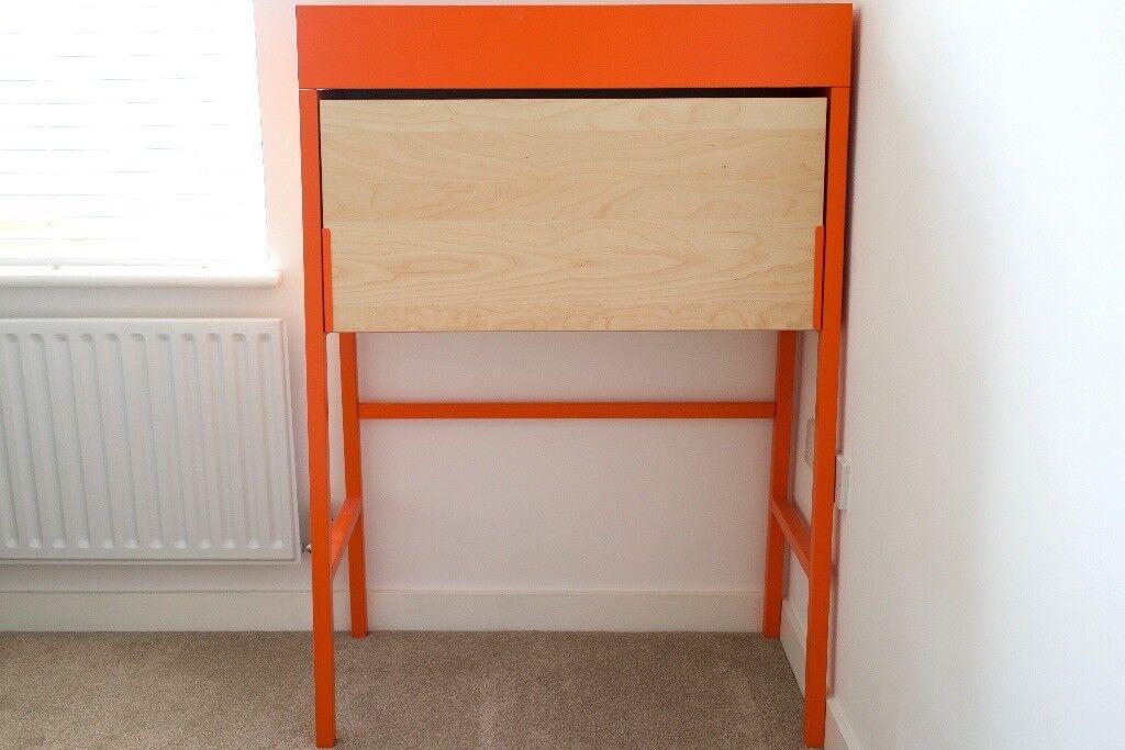 Bureau De Reception Ikea : Ikea ps bureau desk in orange birch veneer in hackney london