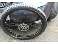 Hope Pro2 Front wheel 26inch with as good tyre and rotor