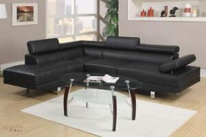FREE Delivery in Montreal! Ultra Modern Hollywood Sectional Sofa with Adjustable Headrests!