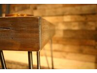 Reclaimed pallet timber furniture - coffee and side table with hairpin legs