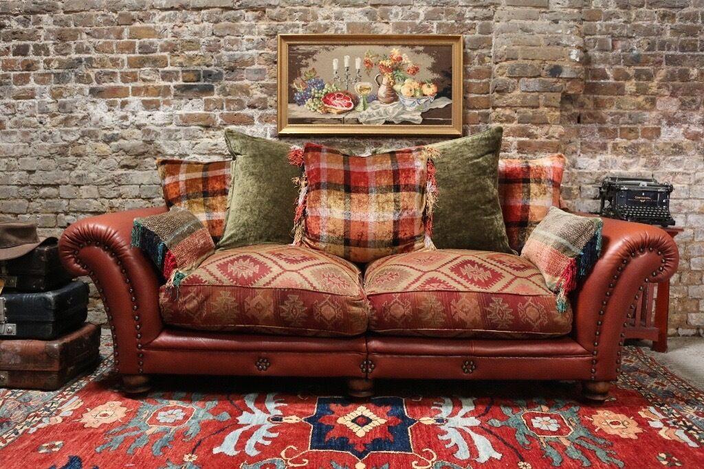 Tetrad Eastwood Midi Sofa Buffalo Leather And Chenille