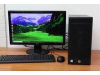 Complete HP PC Windows 10 8GB RAM 1TB HDD i3-6100 CPU Wifi Office