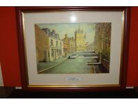 FRAMED PICTURE OF TOWER STREET TAIN