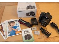 Canon EOS 600D DSLR Camera with EF-S 18-55mm Lens and battery grip