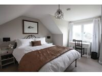 Three-bedroom house with garden and great views available now until end March 2017