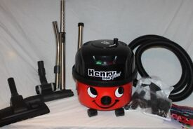 Boxed Numatic Red Henry Plus HEP200 Hoover with twin heads. As new.