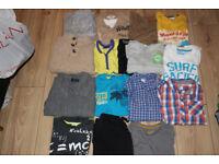 BUNDLE OF BOYS CLOTHES AGE 7-9 TSHIRTS JUMPER BASE LAYERS JOGGERS FLEECE NEXT SONDICO