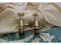 Churchmans classic gold-plated bath taps in excellent condition ready to fit