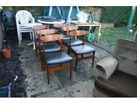 6 X VINTAGE DINING CHAIRS