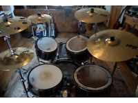 Full Tama Drumkit with cases, stands and cymbals.
