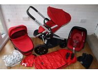 Red Quinny Buzz Xtra pushchair pram 3 in 1 *can post*