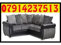 THIS WEEK SPECIAL OFFER SOFA BRAND NEW BLACK & GREY OR BROWN & BEIGE HELIX SOFA SET 0054