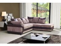 BRAND NEW DINO JUMBO CORD 3+2 SEATER/CORNER SOFAS IN BLACK AND GREY AND BROWN AND BEIGE COLOR