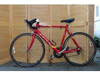 Red Carrera virtuoso bike tranz x components 6061 58cm