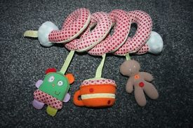 Mamas and Papas Spiral soft activity pram toy *can post*