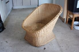 Wicker chair 1970s style.