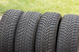 Dunlop SP Winter Response II Tyres. Matching set of 4. 195/60R15
