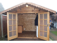 Shed - Double Door Timber Log Cabin 3M x 2.5M - DISASSEMBLED NOW