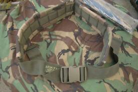 New - Arktis made Woodland Camo Padded Webbing Military Belt